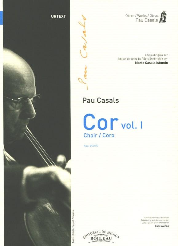 Cor. Volume 1 - Pablo Casals - Partition - Chœur - laflutedepan.com