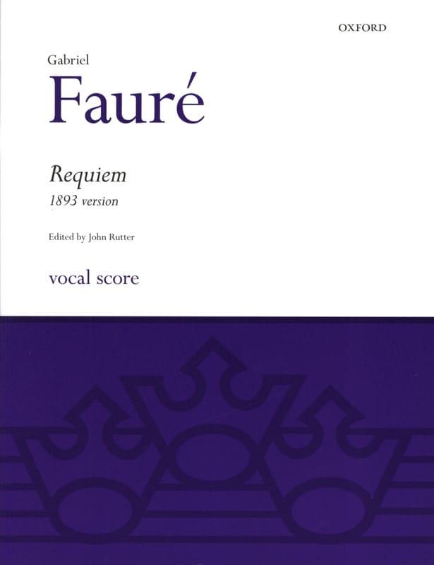 Requiem 1893 - FAURÉ - Partition - Chœur - laflutedepan.com