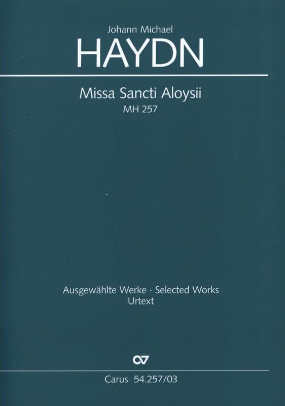 Missa Sancti Aloysii MH 257 - HAYDN - Partition - laflutedepan.com