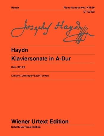 Sonate en la majeur Hob 16-26 - HAYDN - Partition - laflutedepan.com