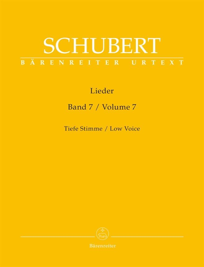 Lieder Volume 7 Voix Grave - SCHUBERT - Partition - laflutedepan.com