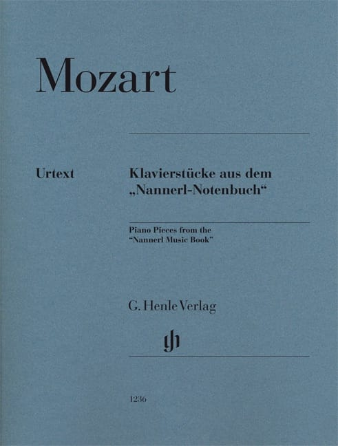 Piano pieces from the Nannerl music book - MOZART - laflutedepan.com
