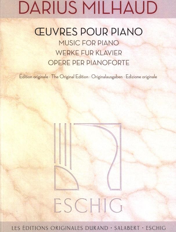 Darius Milhaud - Piano Works - Partition - di-arezzo.com
