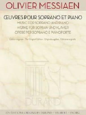 Oeuvres pour soprano et piano - MESSIAEN - laflutedepan.com
