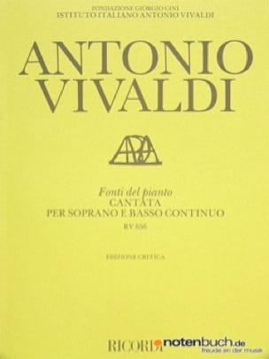 VIVALDI - Fonti del pianto. RV 656 - Partition - di-arezzo.co.uk