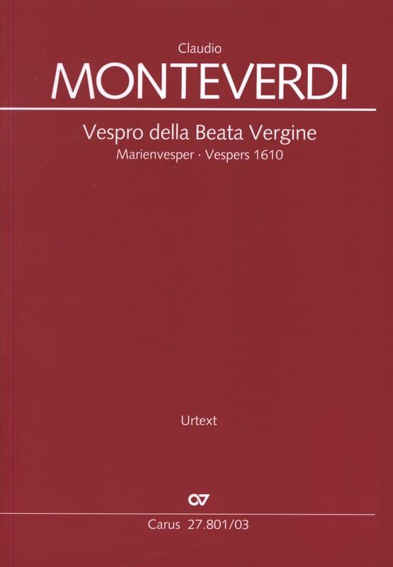 Claudio Monteverdi - Vespro Della Beata Vergine - Partition - di-arezzo.co.uk