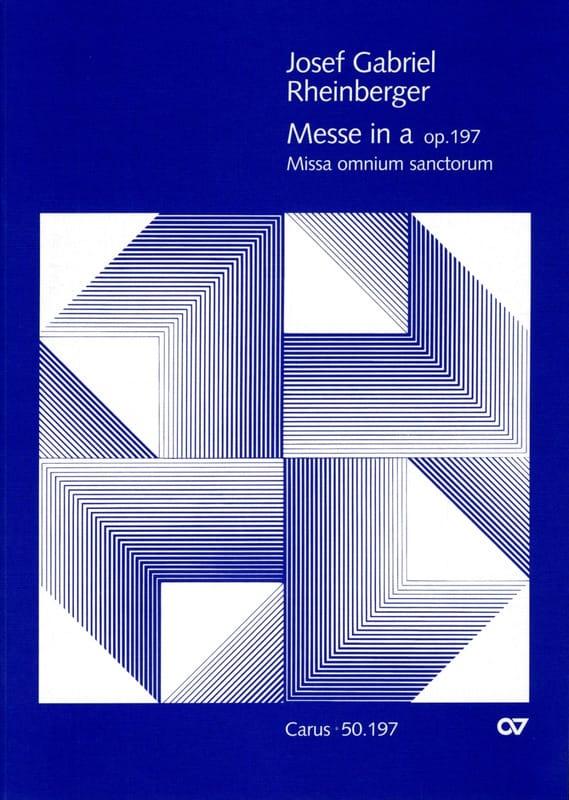 Messe en la Op. 197 - RHEINBERGER - Partition - laflutedepan.com