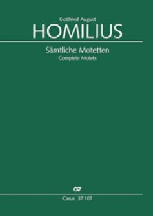 Motets complets - Gottfried August Homilius - laflutedepan.com