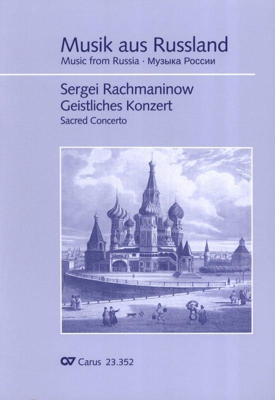 RACHMANINOV - Geistliches Konzert - Partition - di-arezzo.com