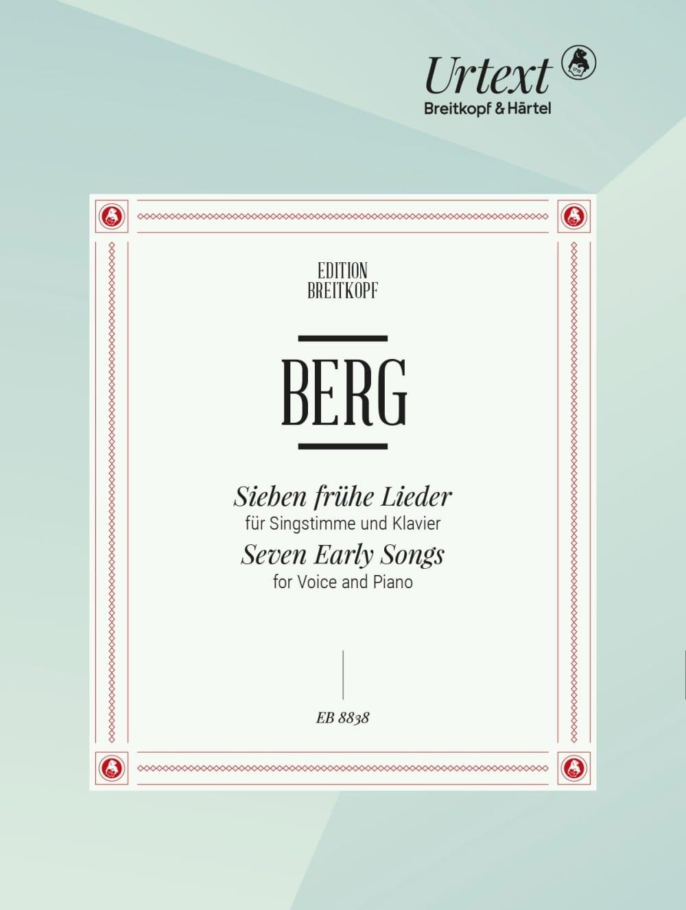 7 Frühe lieder Voix haute - BERG - Partition - laflutedepan.com