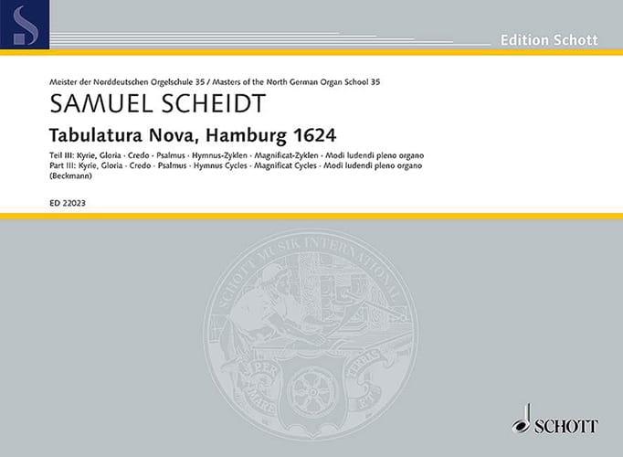 Tabulatura Nova, Hamburg 1624 volume 3 - laflutedepan.com