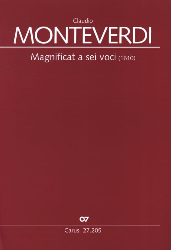 Magnificat a sei voci 1610 - MONTEVERDI - Partition - laflutedepan.com