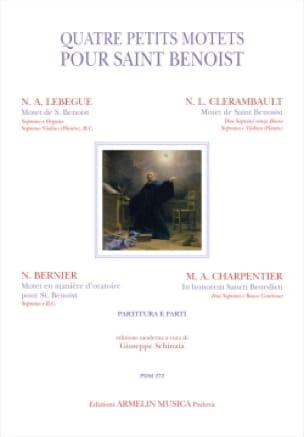 4 petits motets pour Saint Benoist - Partition - laflutedepan.com