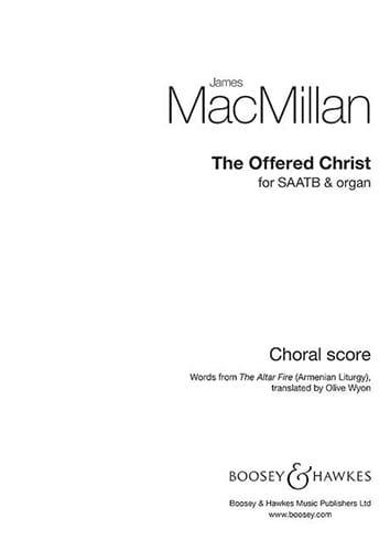 The offered Christ - James MacMillan - Partition - laflutedepan.com