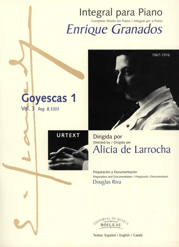 Goyescas Volume 1 - GRANADOS - Partition - Piano - laflutedepan.com