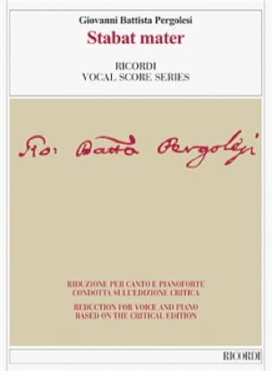 Giovanni Battista Pergolese - Stabat mater. Edición Crítica - Partition - di-arezzo.es