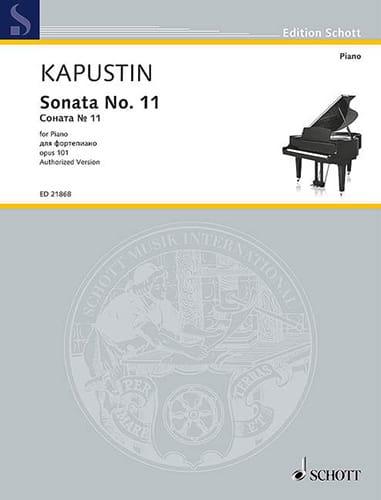 Sonate pour Piano n° 11 Opus 101 - Nikolai Kapustin - laflutedepan.com
