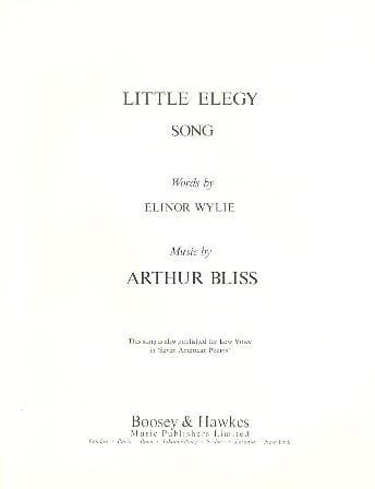 Little Ellegy - Arthur Bliss - Partition - Mélodies - laflutedepan.com