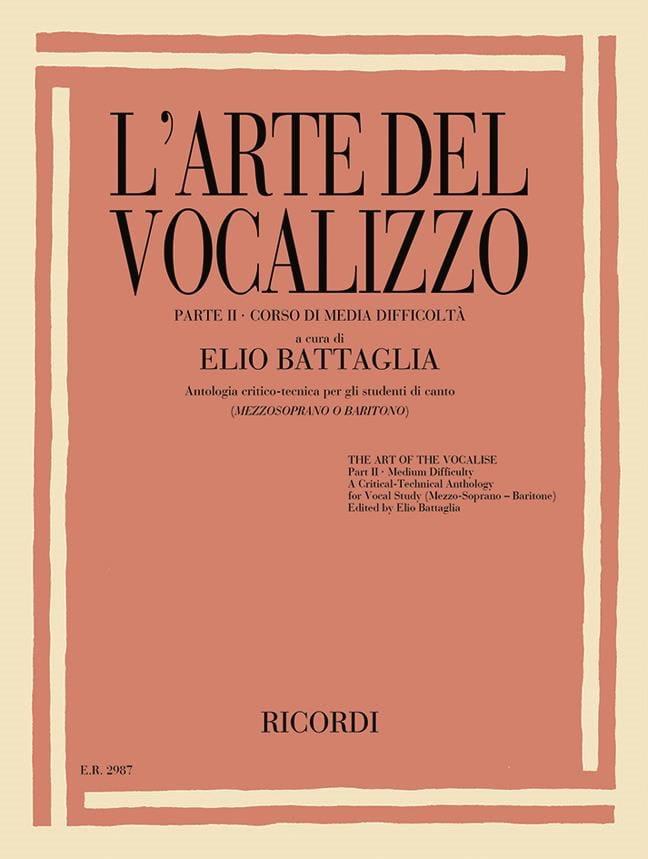 L'arte del vocalizzo. Partie 2 - Elio Battaglia - laflutedepan.com