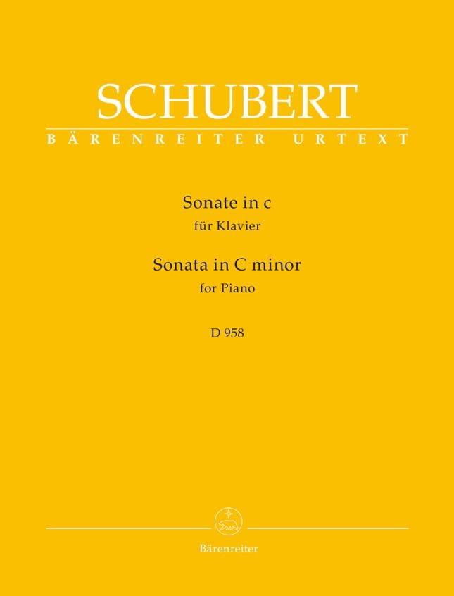 Sonate en do mineur D 958 - SCHUBERT - Partition - laflutedepan.com
