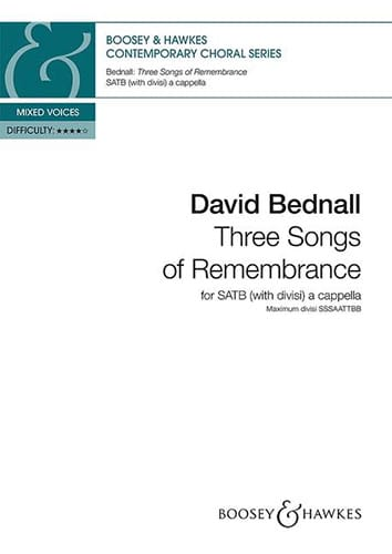 3 songs of remembrance - David Bednall - Partition - laflutedepan.com