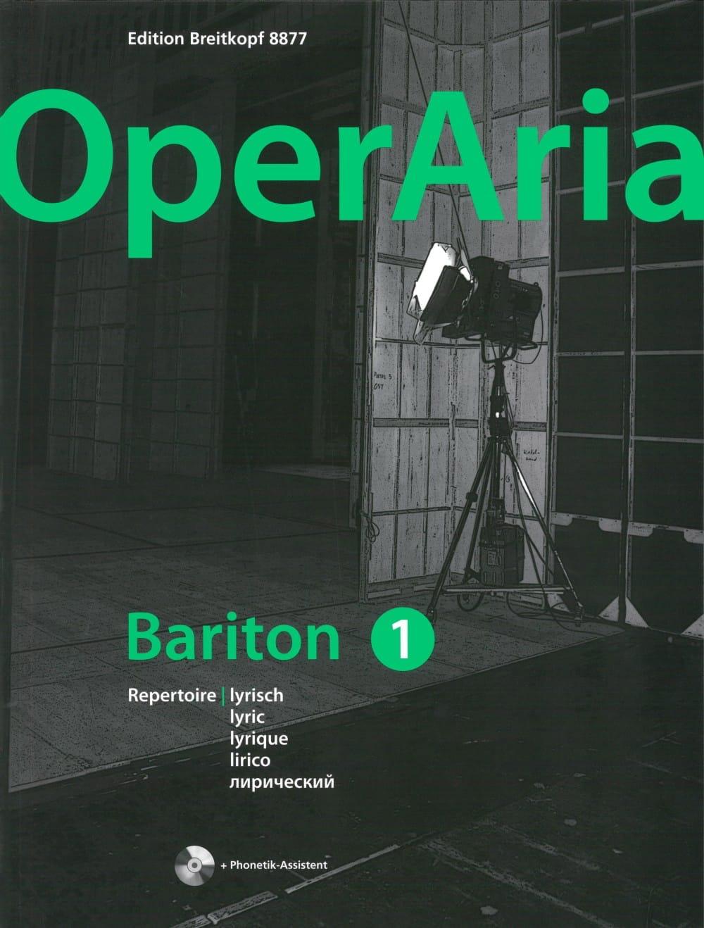 OperAria Baryton - Volume 1 avec CD - Partition - laflutedepan.com