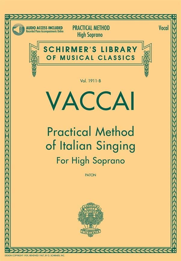 Nicola Vaccai - Practical Method of Italian Singing. Aloud - Partition - di-arezzo.com