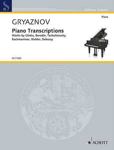 Piano transcriptions - Vyacheslav Gryaznov - laflutedepan.com