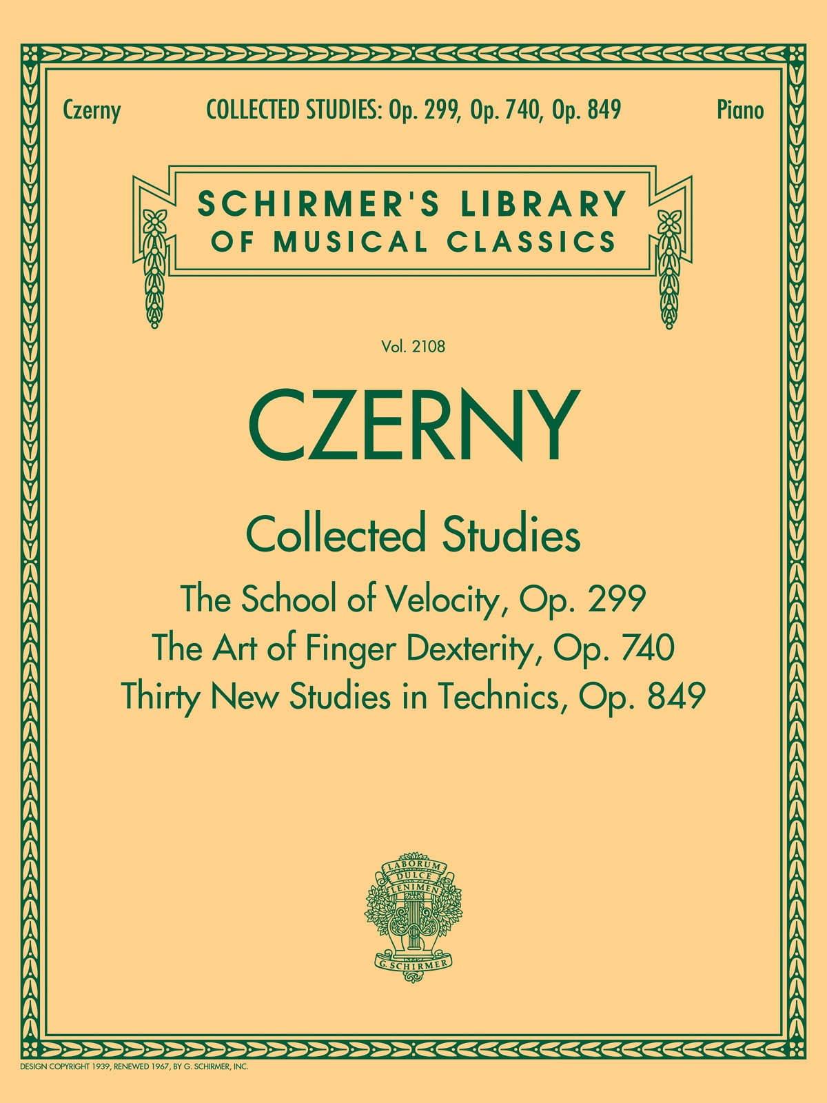 Collected studies - CZERNY - Partition - Piano - laflutedepan.com