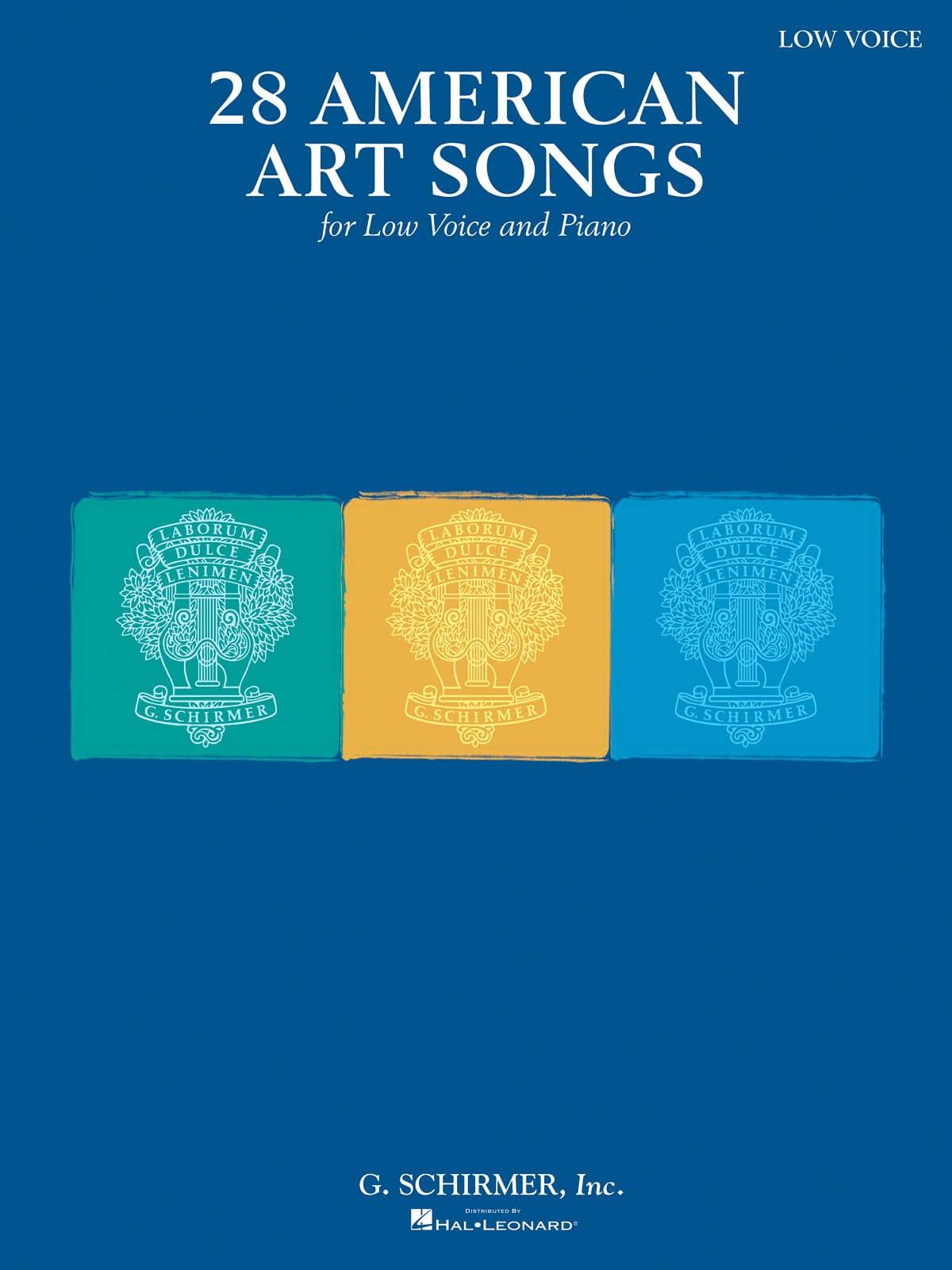 28 American Art Songs. Voix grave - Partition - laflutedepan.com