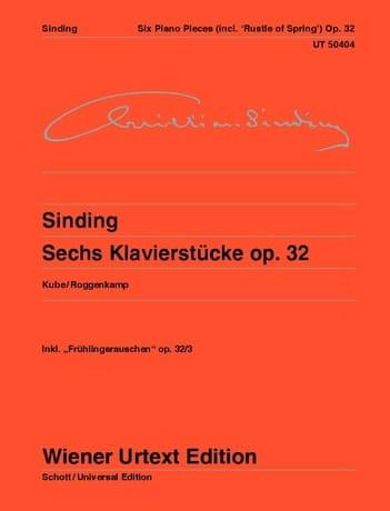 6 klavierstücke op. 32 - Christian Sinding - laflutedepan.com