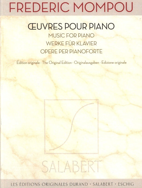 Oeuvres pour piano - Federico Mompou - Partition - laflutedepan.com