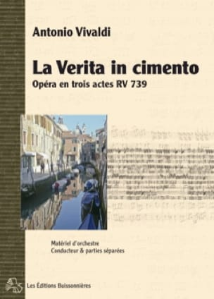 VIVALDI - The verita in cemento RV 739 - Partition - di-arezzo.com