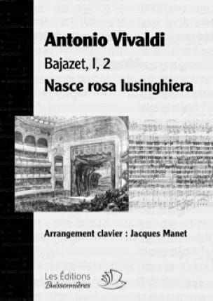 VIVALDI - Nasce rosa lusinghiera. Bajazet - Partition - di-arezzo.co.uk