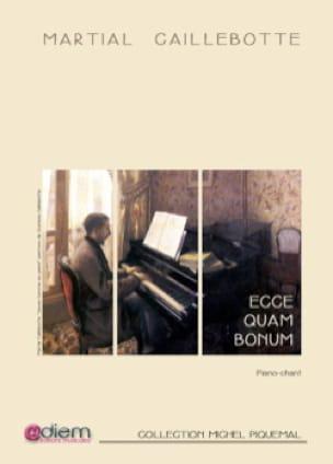 Ecce quam bonum - Martial Caillebotte - Partition - laflutedepan.com