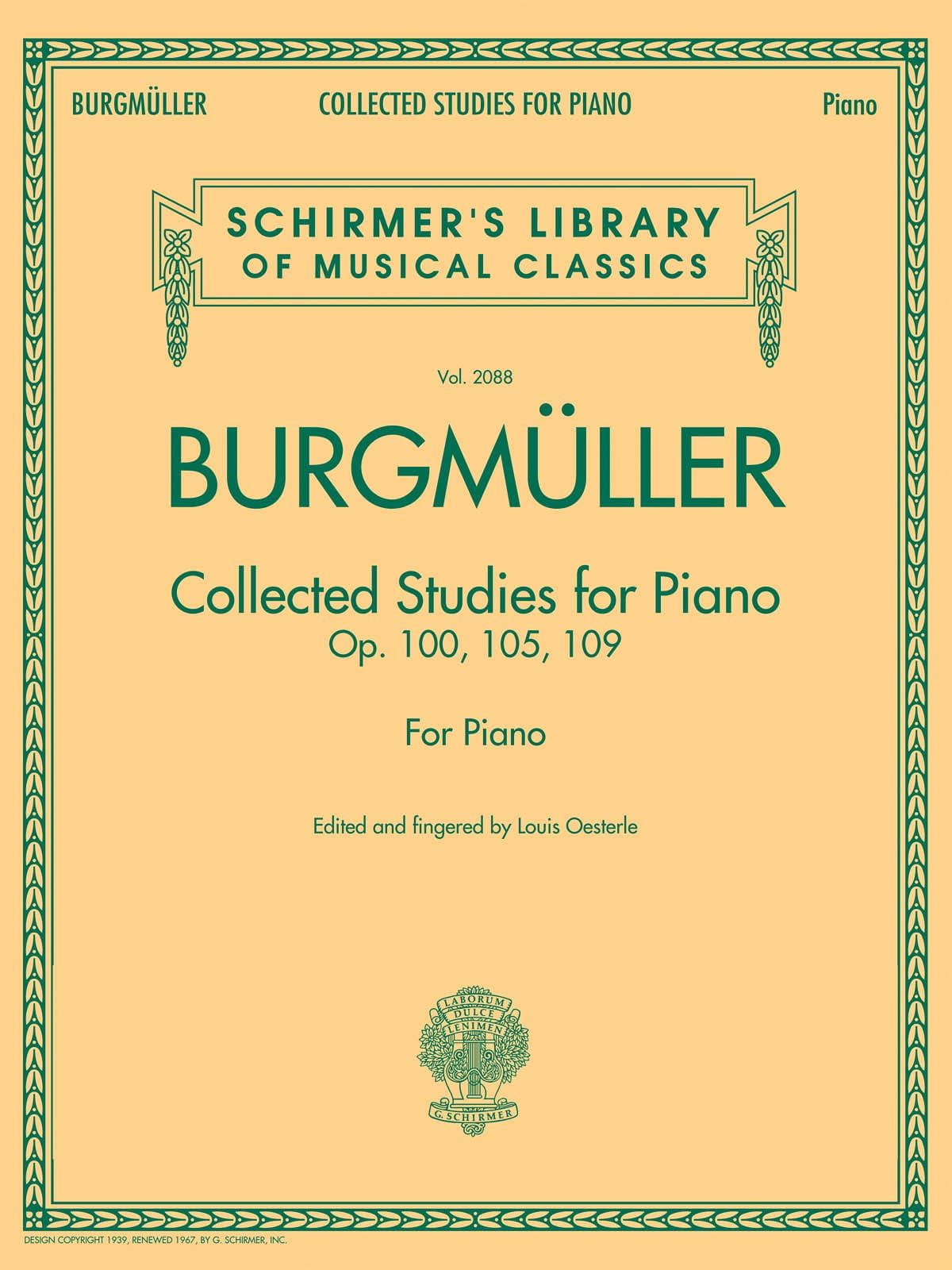 Collected studies - Frédéric Burgmuller - Partition - laflutedepan.com