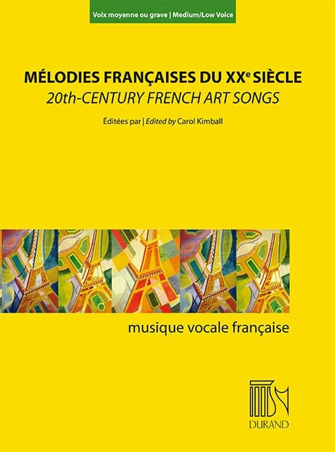 - French melodies in the twentieth century. Medium or serious voice - Partition - di-arezzo.com