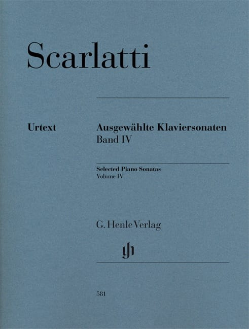 Domenico Scarlatti - Selected sonatas for piano. Volume 4 - Partition - di-arezzo.co.uk