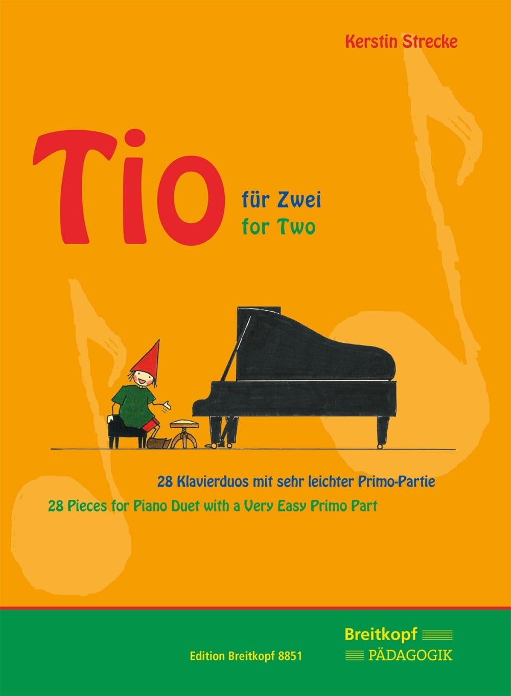 Tio für zwei. 4 mains - Kerstin Strecke - Partition - laflutedepan.com