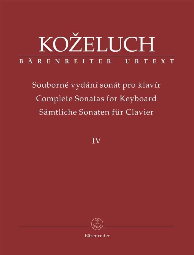 Sonates pour clavier. Volume 4 - laflutedepan.com