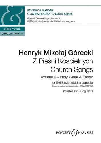 Henryk Mikolaj Gorecki - Church songs. Volume 2 - Partition - di-arezzo.co.uk