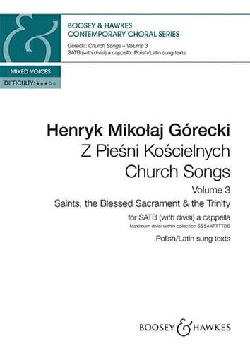 Henryk Mikolaj Gorecki - Church Songs. Volume 3 - Partition - di-arezzo.co.uk