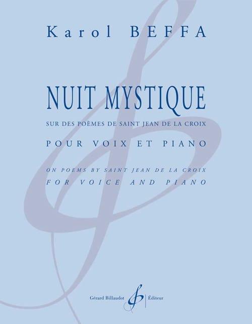 Nuit mystique - Karol Beffa - Partition - Mélodies - laflutedepan.com