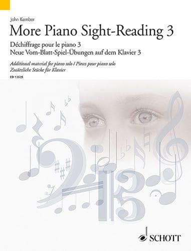 John Kember - More Piano Sight-Reading. Volume 3 - Partition - di-arezzo.co.uk