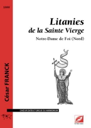 Litanies de la Sainte Vierge - FRANCK - Partition - laflutedepan.com