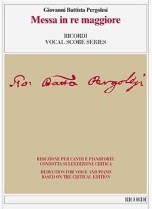 Messe en ré majeur. Edition Critique - PERGOLESE - laflutedepan.com