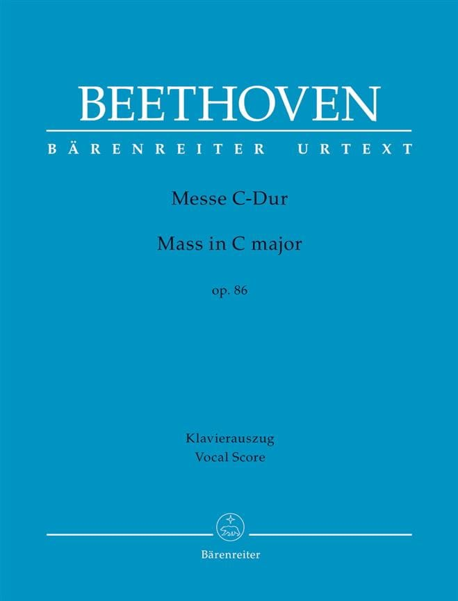 BEETHOVEN - Mass In Ut op. 86 - Partition - di-arezzo.com