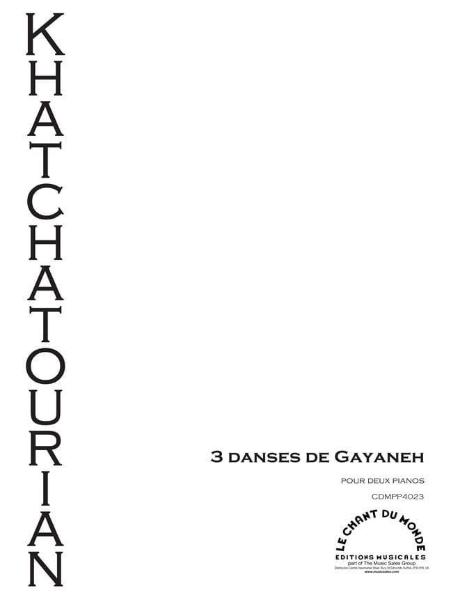 3 danses de Gayaneh. 2 pianos - KHATCHATURIAN - laflutedepan.com