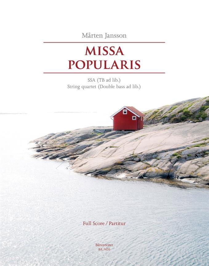 Missa popularis. Conducteur - Marten Jansson - laflutedepan.com
