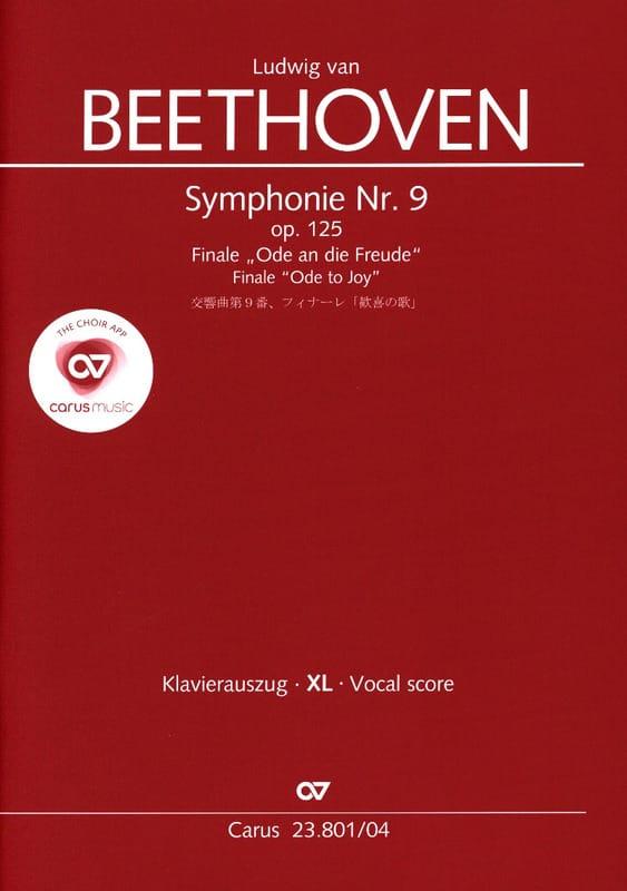 An die Freude Opus 125 XL Format - BEETHOVEN - laflutedepan.com